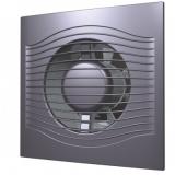 SLIM 5C dark gray metal, Вентилятор осевой вытяжной с обратным клапаном D 125, декоративный