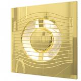SLIM 5C Gold, Вентилятор осевой вытяжной с обратным клапаном D 125, декоративный