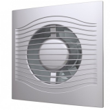 SLIM 4C gray metal, Вентилятор осевой вытяжной с обратным клапаном D 100, декоративный