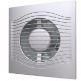 SLIM 5C gray metal, Вентилятор осевой вытяжной с обратным клапаном D 125, декоративный