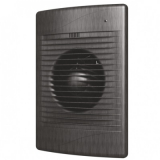 STANDARD 5C black Al, Вентилятор осевой вытяжной с обратным клапаном D125, декоративный