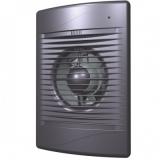 STANDARD 4С dark gray metal, Вентилятор осевой вытяжной с обратным клапаном D 100, декоративный