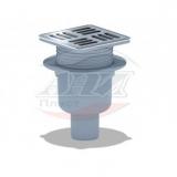 Трап вертикальный регулируемый с выпуском 50мм, с нержавеющей решеткой 120*120 (с металлической окантовкой)