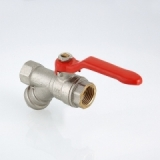 """Кран шаровой со встроенным фильтром 3/4"""" вн-вн Valtec"""