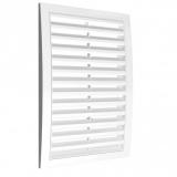 Решетка вентиляционная с наклонными фиксированными жалюзи АБС 150х150