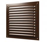 Решетка вентиляционная вытяжная стальная 150х150 коричневая