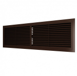4513РП кор, Решетка вентиляционная переточная АБС 455х133, коричневая
