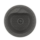 Мойкa ML-GM10 круглая, темно-серая (309), 440мм (глуб. чаши 180)