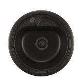 Мойкa ML-GM10 круглая, черная (308), 440мм (глуб. чаши 180)