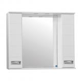 Ирис зеркало-шкаф  900/С  (830*900*160) КРАСНЫЙ ГЛЯНЕЦ