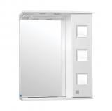 Крокус зеркало-шкаф  650/С  (730*650*234) ТЕХНО СТАЛЬ