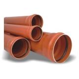 Трубы для наружней канализации Политэк Ø110*3,4*1000 мм