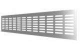 4810DP Al Silver, Решетка переточная алюминиевая с анодированным покрытием 480x100, Silver